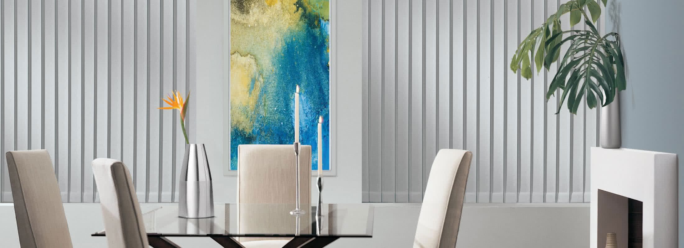 Somner Vertical Blinds Dining Room